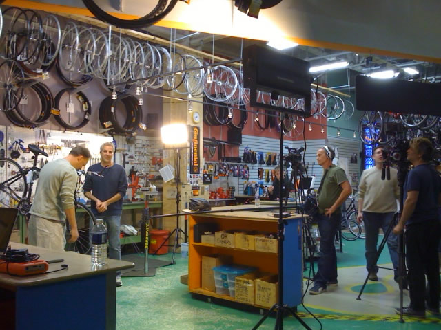 Rapid Transit Cycles shop filming